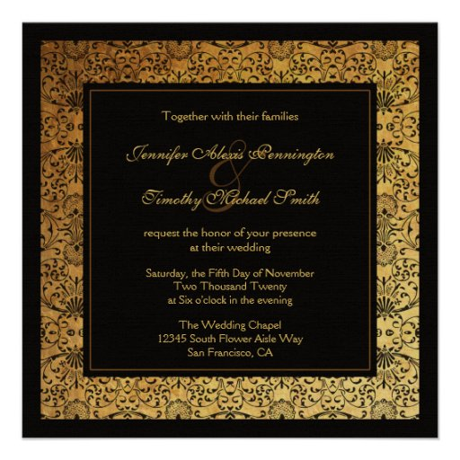 Black And Gold Wedding Invitations 017 - Black And Gold Wedding Invitations