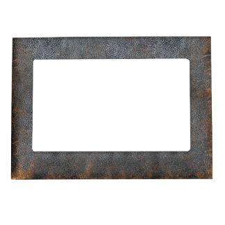 Vintage Faded Brown Antique Leather Magnetic Frame