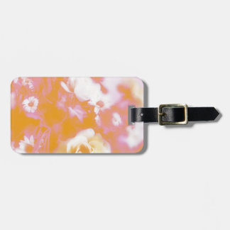 Vintage Faded Floral Arrangement Photography Luggage Tag