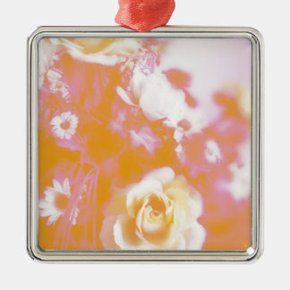 Vintage Faded Floral Arrangement Photography Christmas Tree Ornament