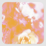 Vintage Faded Floral Arrangement Photography Square Sticker