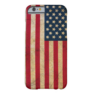 Vintage Faded Old US American Flag Antique Grunge Barely There iPhone 6 Case
