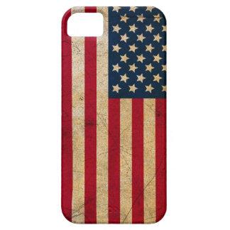 Vintage Faded Old US American Flag Antique Grunge iPhone SE/5/5s Case