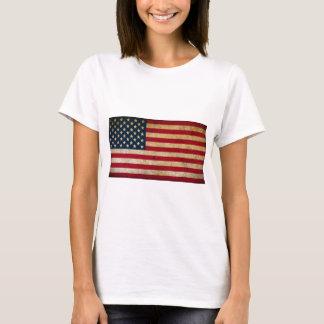 Vintage Faded Old US American Flag Antique Grunge T-Shirt