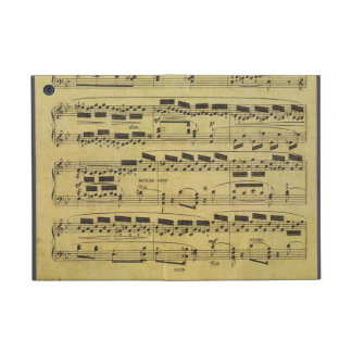 Vintage Faded Sheet Music Notes for Musicians iPad Mini Case