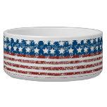 Vintage Faded USA Flag-Multi Use Pet Food Bowls
