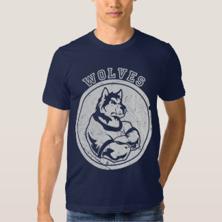Vintage Faded Wolf Mascot T-Shirt