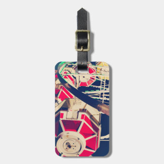 Vintage Fair Ferris Wheel Bag Tag