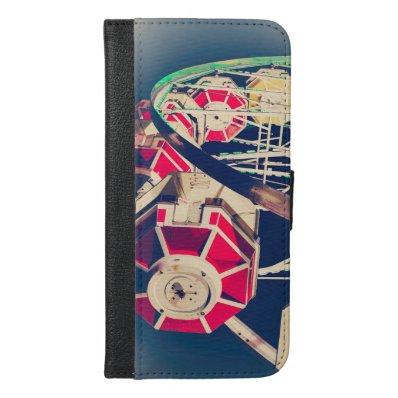 Vintage Fair Ferris Wheel iPhone 6/6S Plus Wallet Case