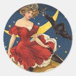 vintage faires round sticker
