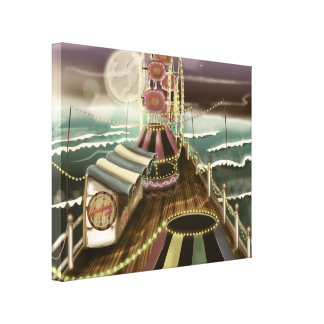 Vintage Fairground seaside Peer Canvas Print