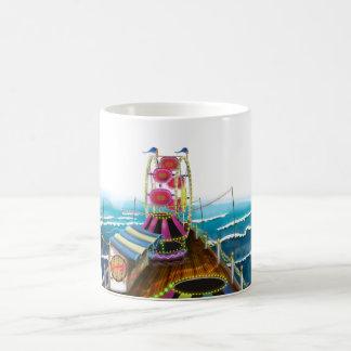 Vintage Fairground seaside Peer Classic White Coffee Mug