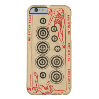 Vintage fairground targets with bullet holes barely there iPhone 6 case
