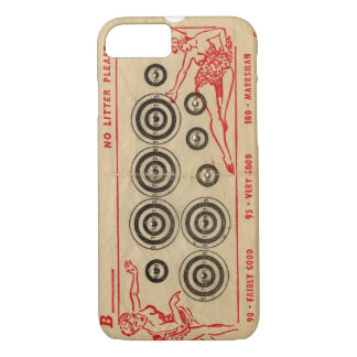 Vintage fairground targets with bullet holes iPhone 7 case