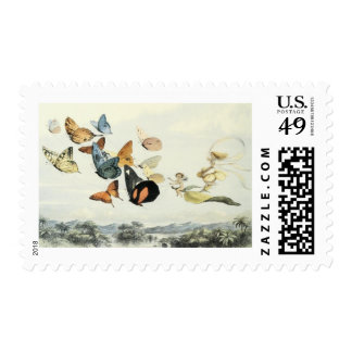Vintage Fairies and Butterflies Postage