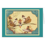 """Vintage Fairies Christmas Card"" Greeting Card"