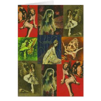 Vintage Fairies Greetings Card