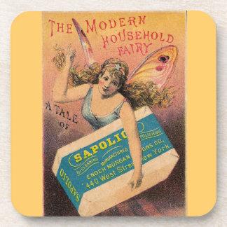 Vintage Fairy Ad Coaster