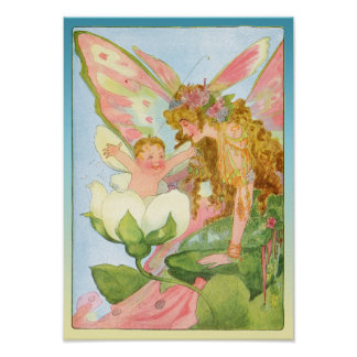 Vintage Fairy and Baby Print