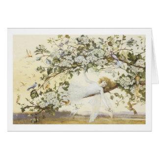 Vintage Fairy Ariel 1858 Card