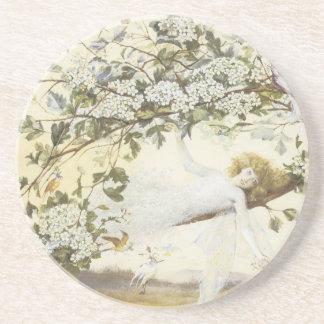 Vintage Fairy Ariel 1858 Drink Coaster