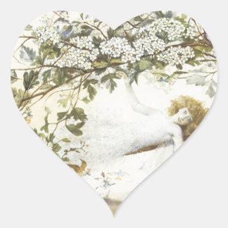 Vintage Fairy Ariel 1858 Heart Sticker
