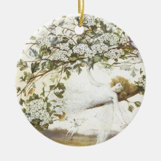 Vintage Fairy Ariel 1858 Christmas Ornaments