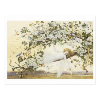 Vintage Fairy Ariel 1858 Postcard