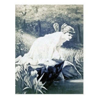 Vintage - Fairy At The Waters Edge Postcard