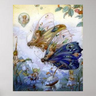 Vintage Fairy Aviators Poster