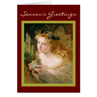 Vintage Fairy Christmas Card