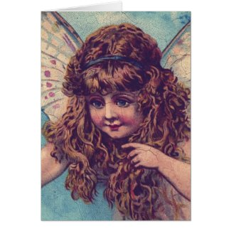 Vintage Fairy, Christmas Greeting Card