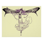 Vintage Fairy Decal Print