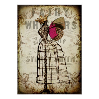 Vintage Fairy Dress Form Poster