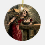 Vintage Fairy Godmother Double-Sided Ceramic Round Christmas Ornament
