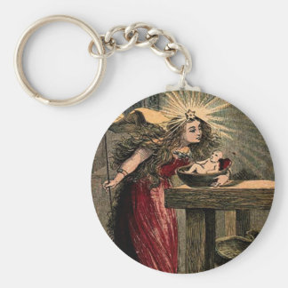 Vintage Fairy Godmother Keychain