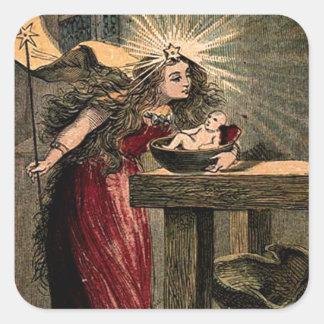 Vintage Fairy Godmother Square Sticker