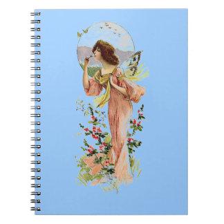 Vintage Fairy Moonlight Blue Notebook