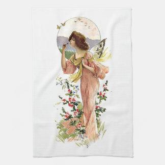 Vintage Fairy Moonlight White Kitchen Towel