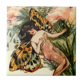 Vintage Fairy Princess Butterfly Wings Accent Tile