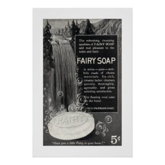 Vintage Fairy Soap Ad from 1916 Print