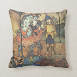 Vintage Fairy Tale, A Brave Knight and Dragon Pillows