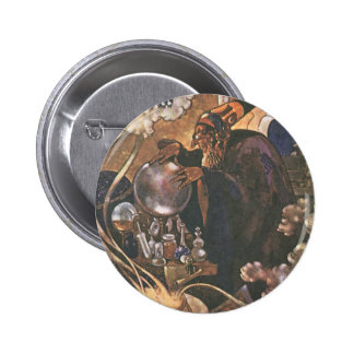 Vintage Fairy Tale, Aladdin and the Magic Lamp 2 Inch Round Button