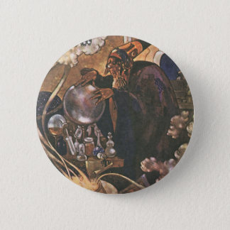 Vintage Fairy Tale, Aladdin and the Magic Lamp Button