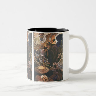 Vintage Fairy Tale, Aladdin and the Magic Lamp Two-Tone Coffee Mug