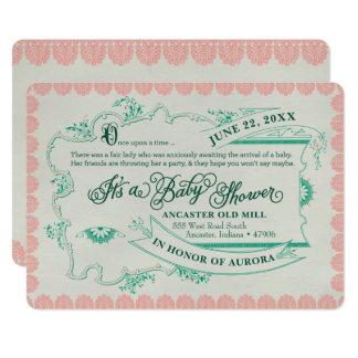 Vintage Fairy Tale Baby Shower Invitation