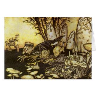Vintage Fairy Tale, Band of Workmen by Rackham Card