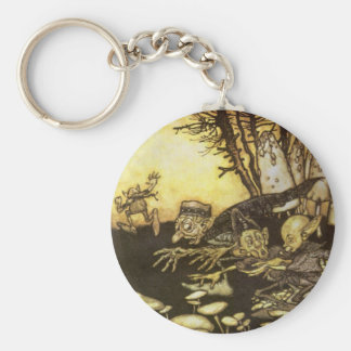 Vintage Fairy Tale, Band of Workmen by Rackham Keychain