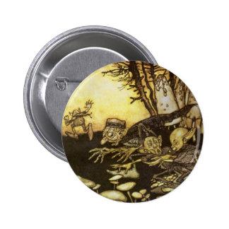 Vintage Fairy Tale, Band of Workmen by Rackham Pinback Button