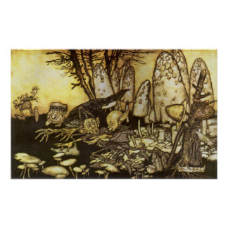Vintage Fairy Tale, Band of Workmen by Rackham Poster